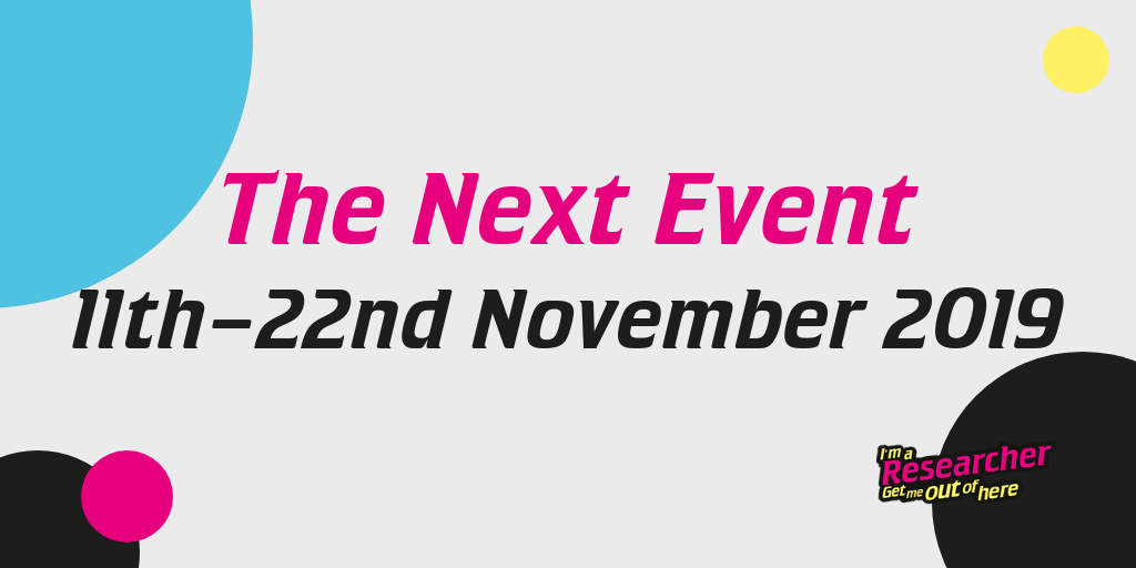 The next event is happening in November 2019