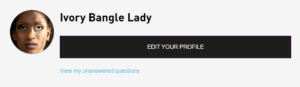 example profile of ivory bangle lady